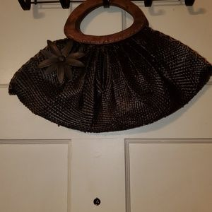 Oversized Clutch purse with decorative flower